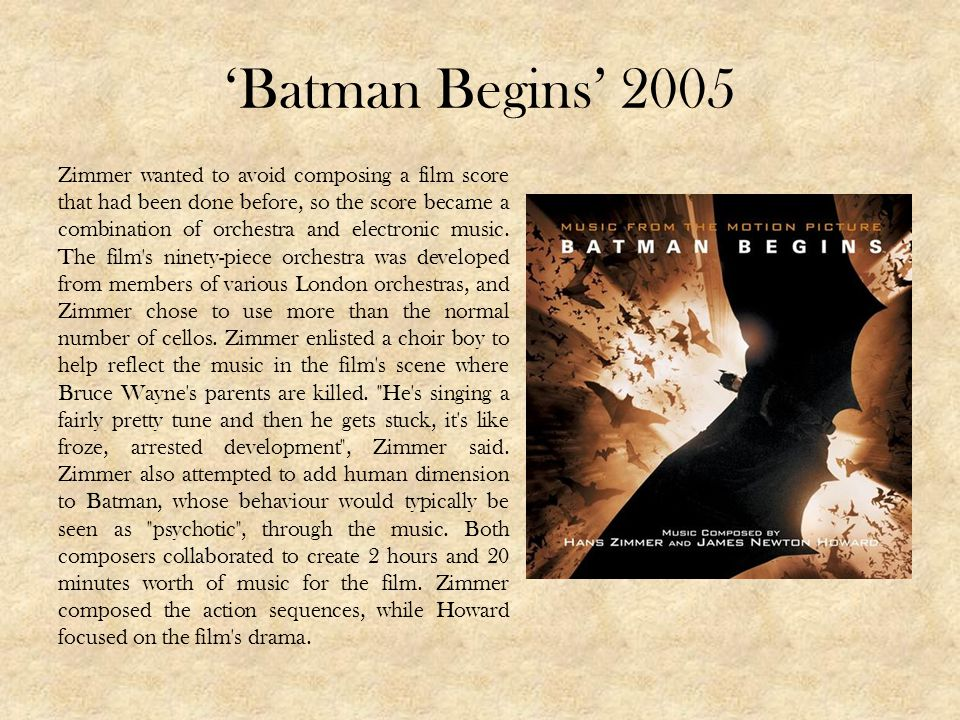 'Batman Begins' 2005