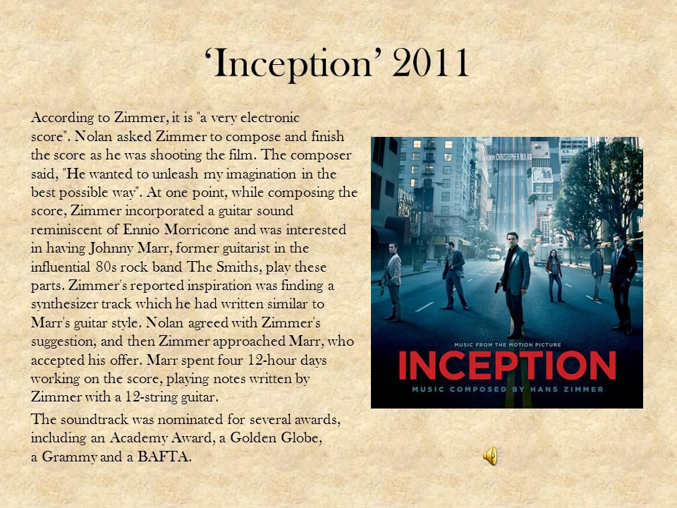 'Inception' 2011