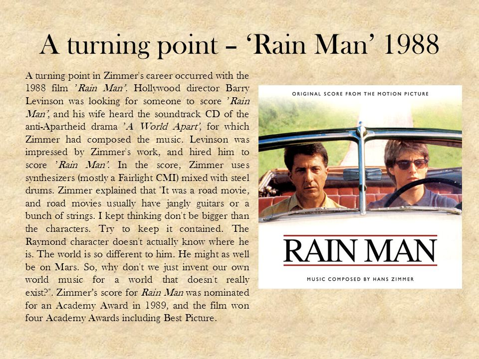 A turning point – 'Rain Man' 1988