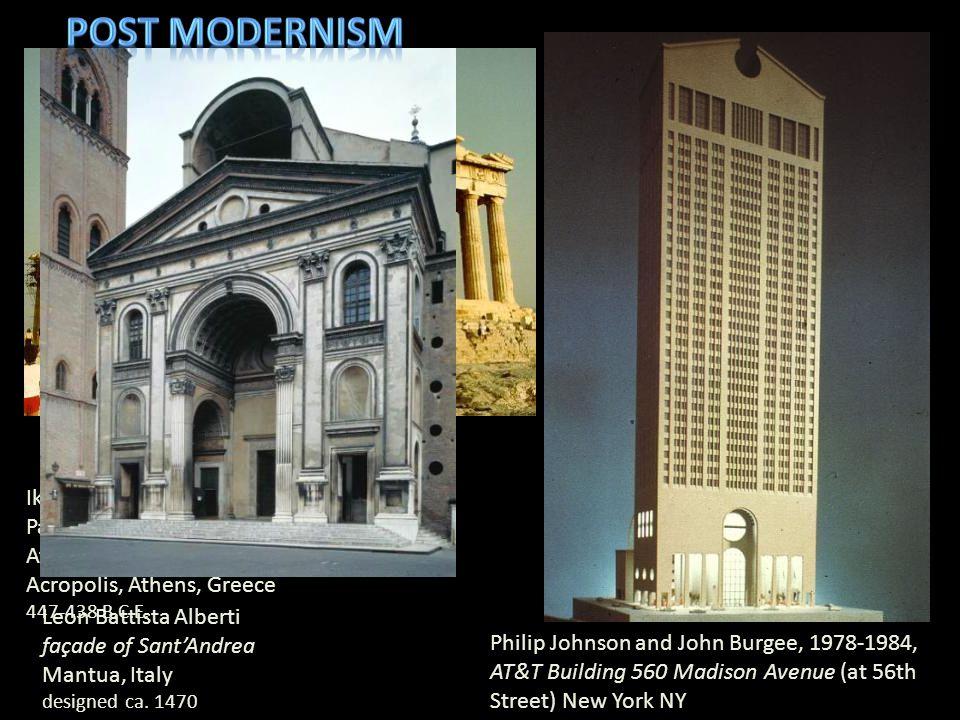 Post modernism Iktinos and Kallikrates