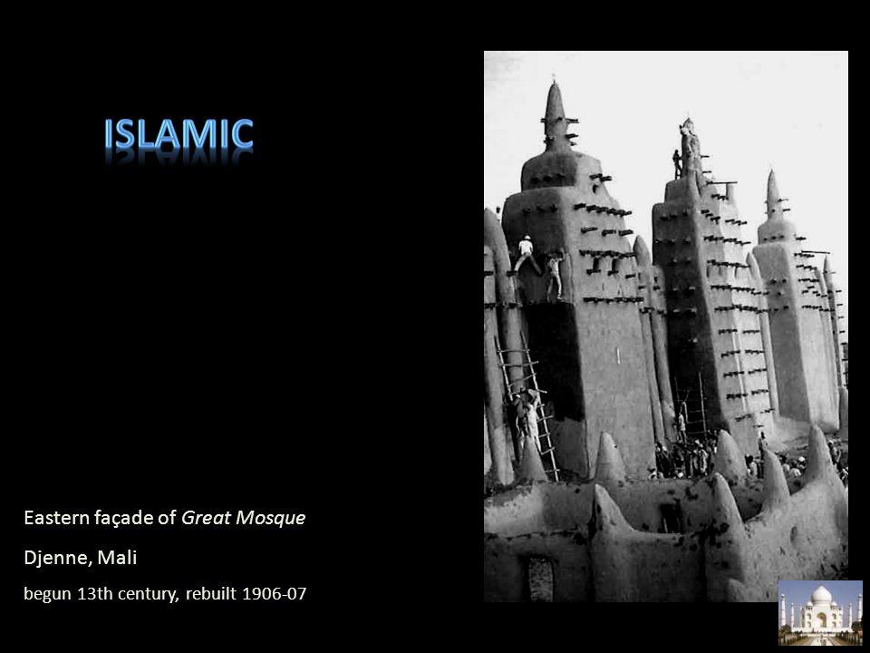 Islamic Eastern façade of Great Mosque Djenne, Mali