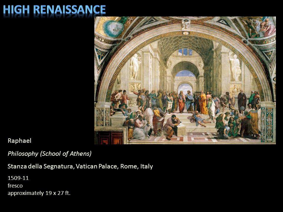 High Renaissance Raphael Philosophy (School of Athens)