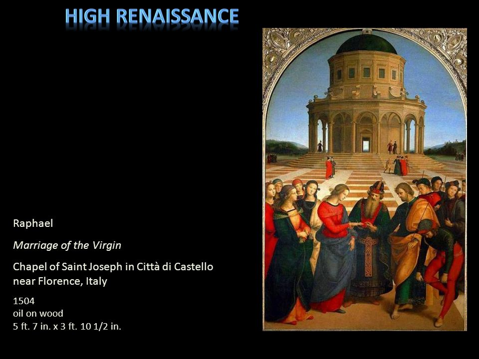 High Renaissance Raphael Marriage of the Virgin