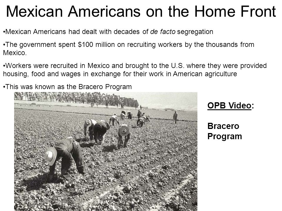Mexican Americans on the Home Front