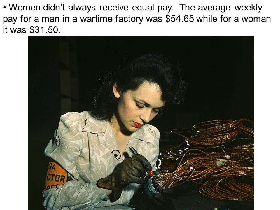 Women didn't always receive equal pay