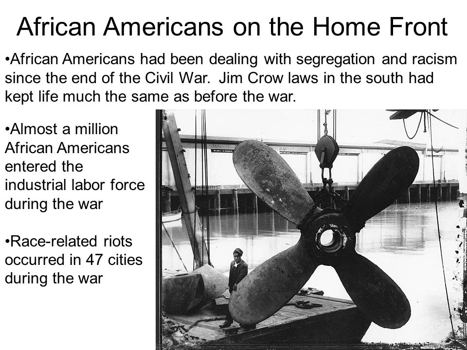 African Americans on the Home Front