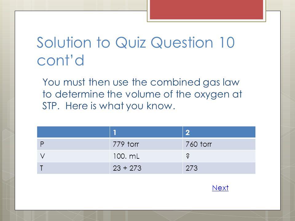 Solution to Quiz Question 10 cont'd
