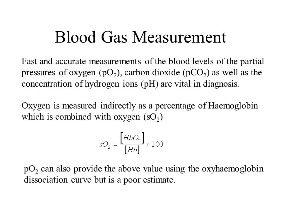 Blood Gas Measurement