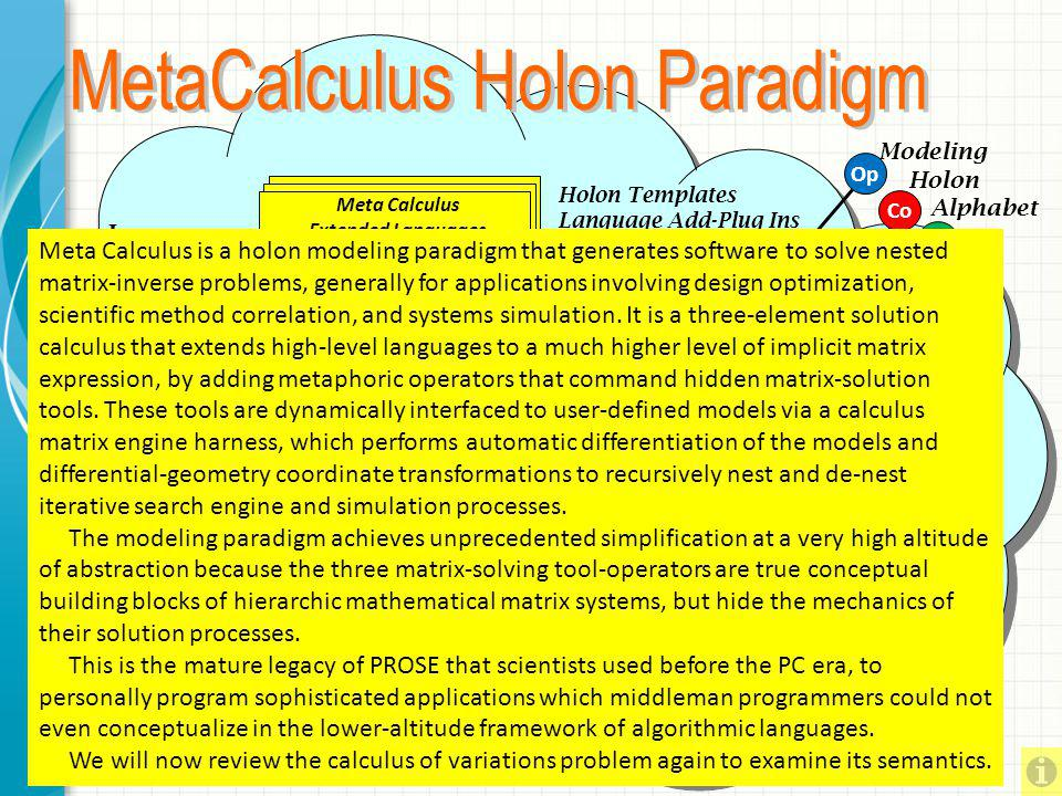 Meta Calculus Extended Languages