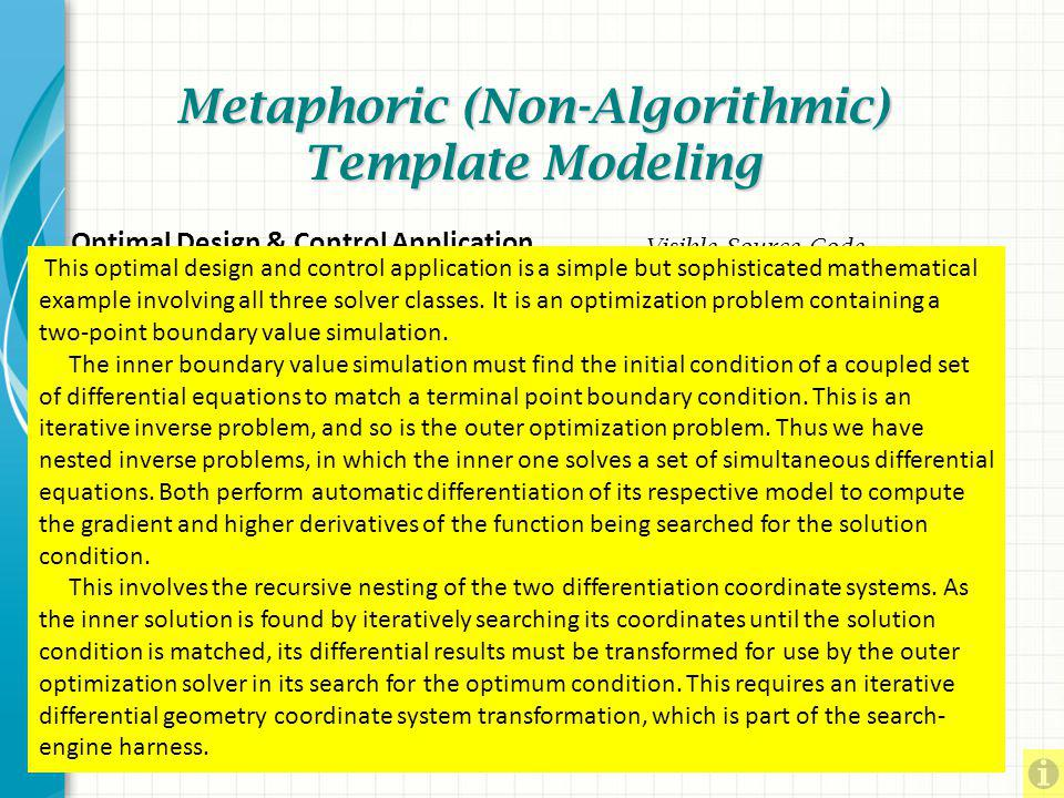 Metaphoric (Non-Algorithmic) Template Modeling