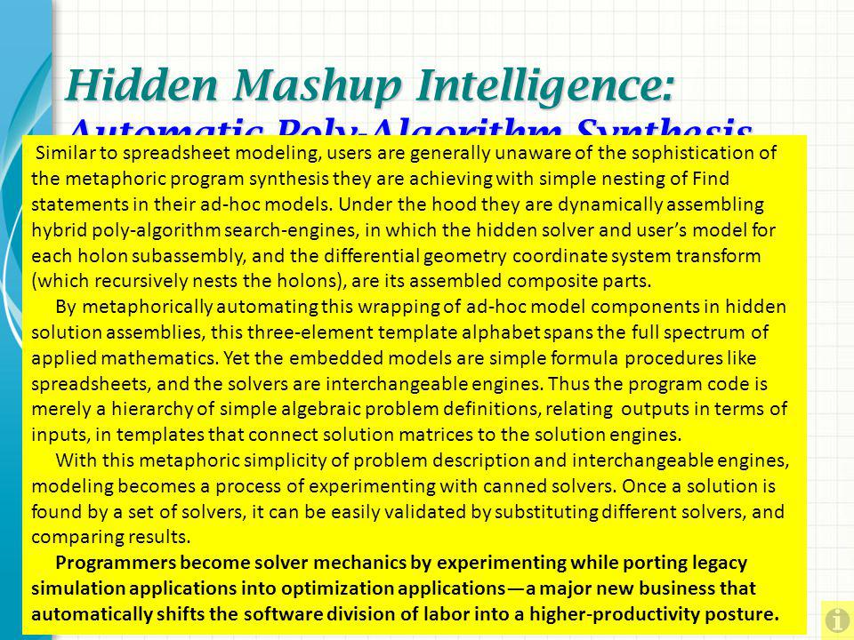 Hidden Mashup Intelligence: Automatic Poly-Algorithm Synthesis