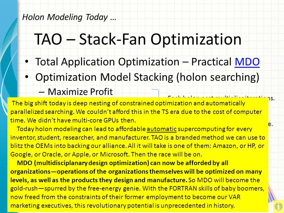 TAO – Stack-Fan Optimization