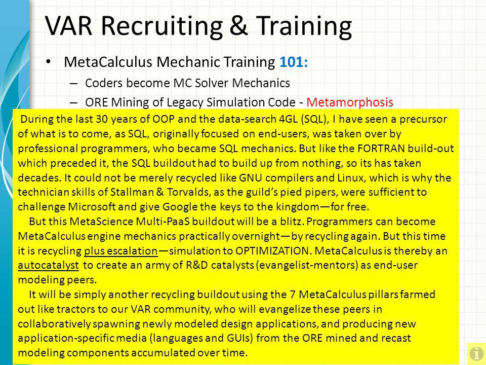 VAR Recruiting & Training