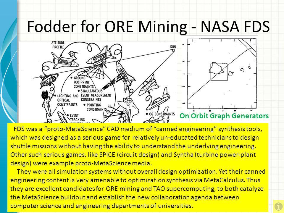 Fodder for ORE Mining - NASA FDS
