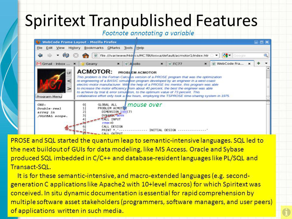 Spiritext Tranpublished Features