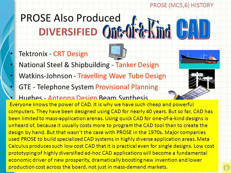 PROSE Also Produced DIVERSIFIED