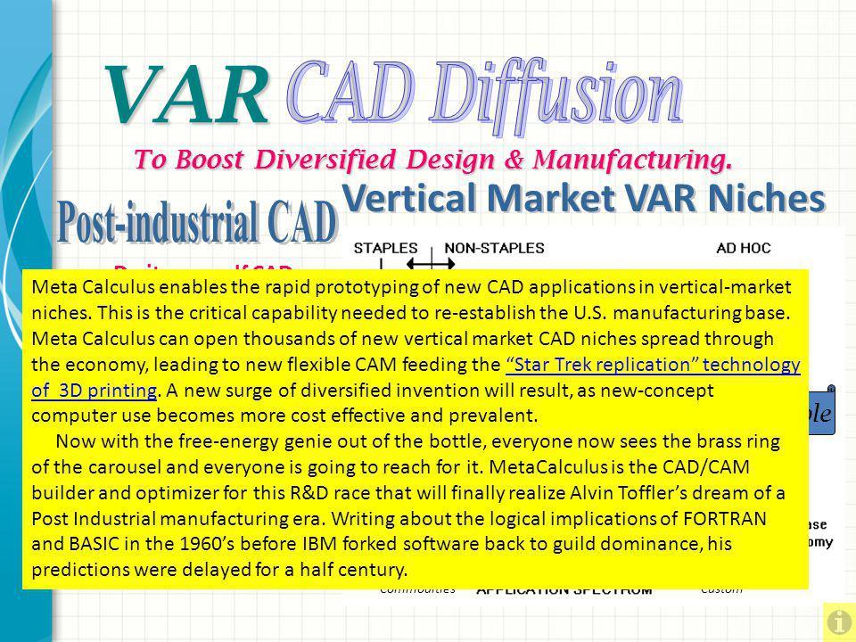 VAR To Boost Diversified Design & Manufacturing.