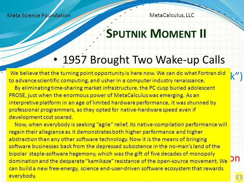 Sputnik Moment II 1957 Brought Two Wake-up Calls