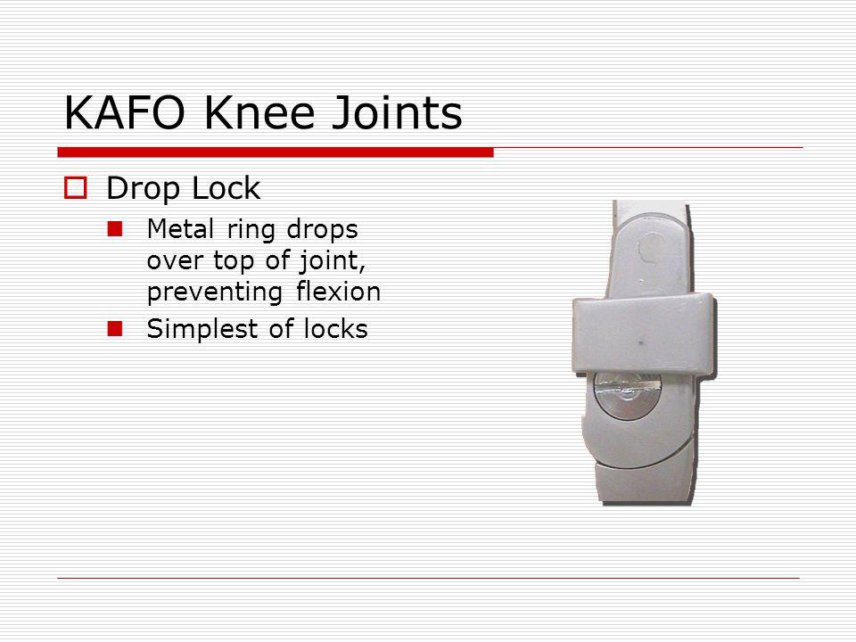 KAFO Knee Joints Drop Lock