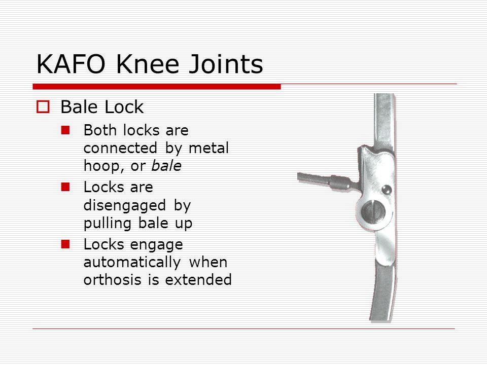 KAFO Knee Joints Bale Lock