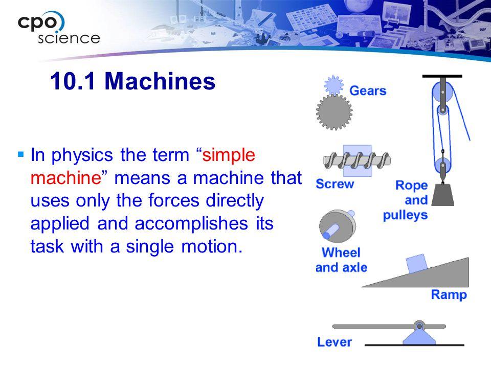 10.1 Machines
