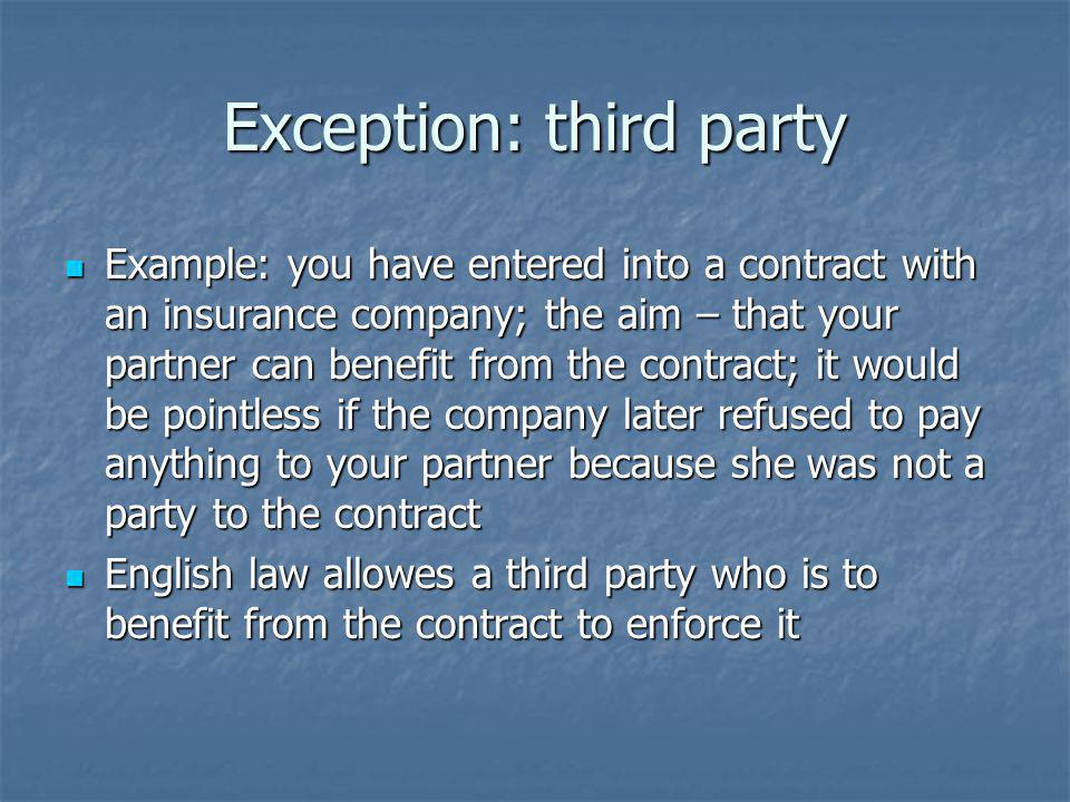 Exception: third party