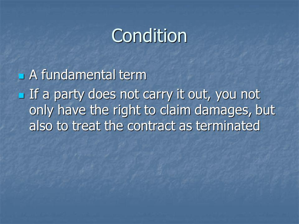 Condition A fundamental term