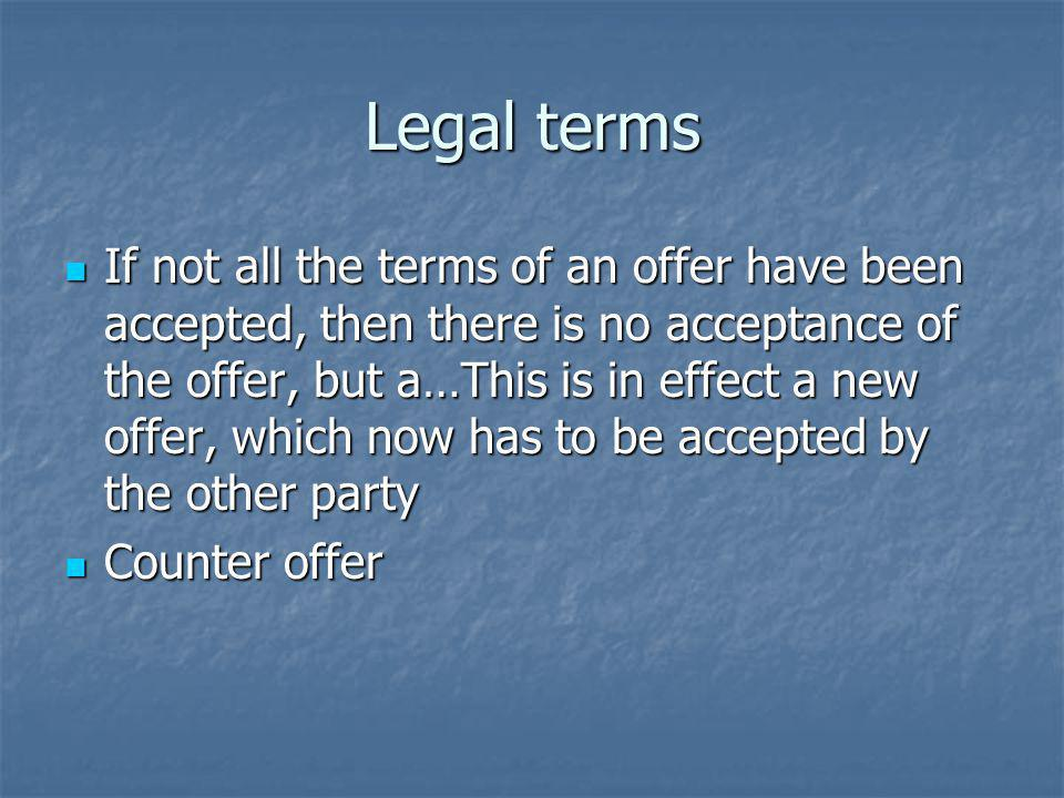 Legal terms