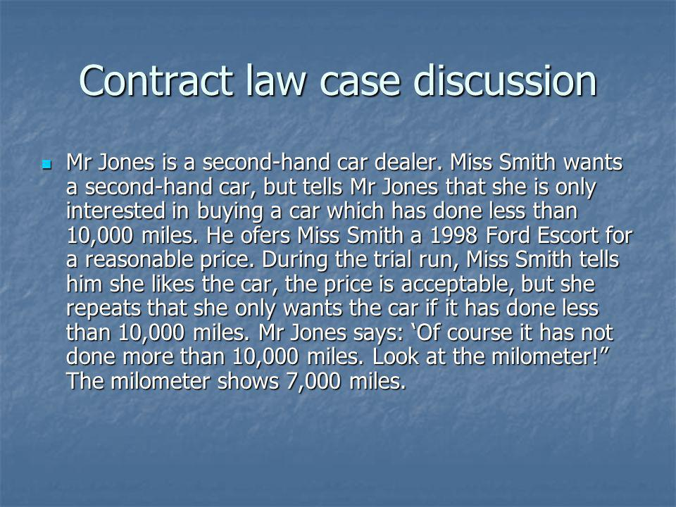 Contract law case discussion
