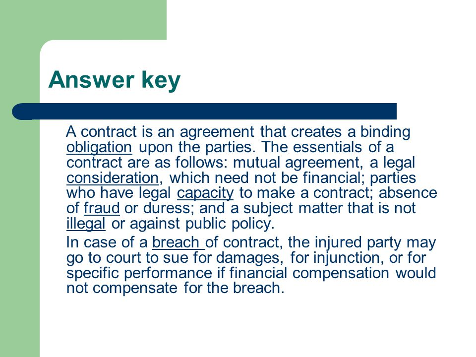how to make a contract legal and binding canada