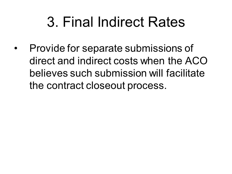 3. Final Indirect Rates