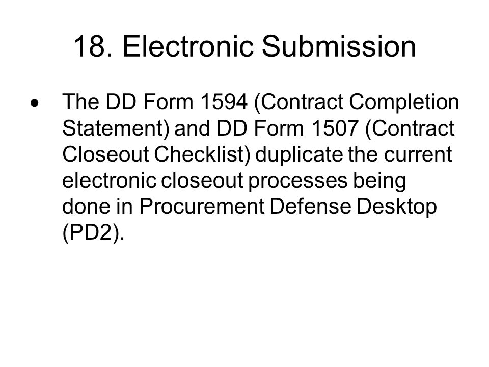 18. Electronic Submission