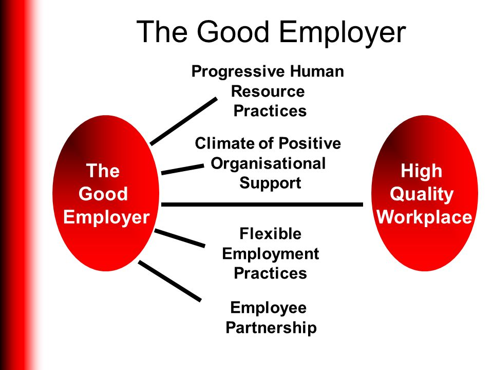 The Good Employer The Good Employer High Quality Workplace