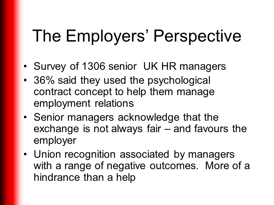 The Employers' Perspective