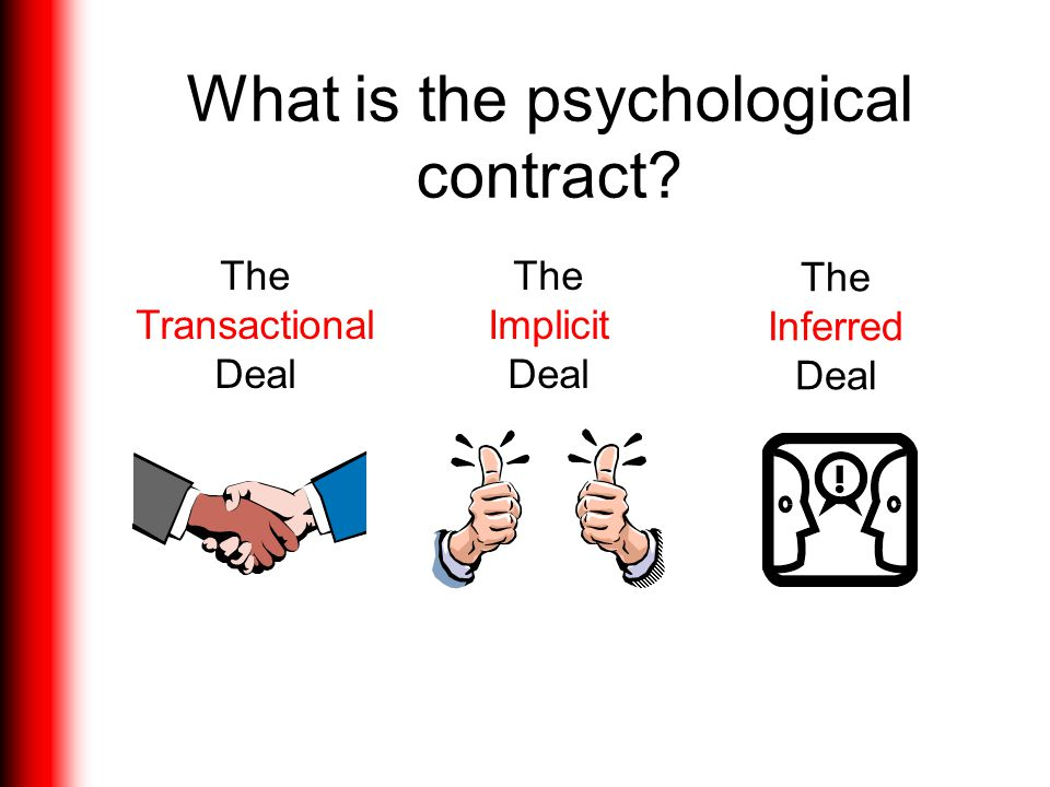 What is the psychological contract