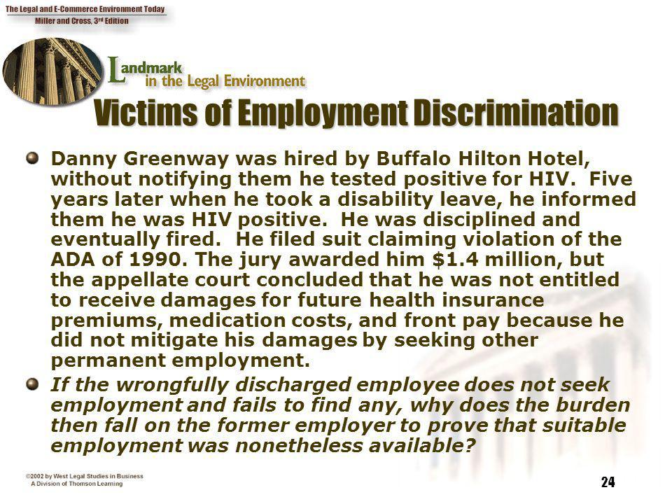 Victims of Employment Discrimination