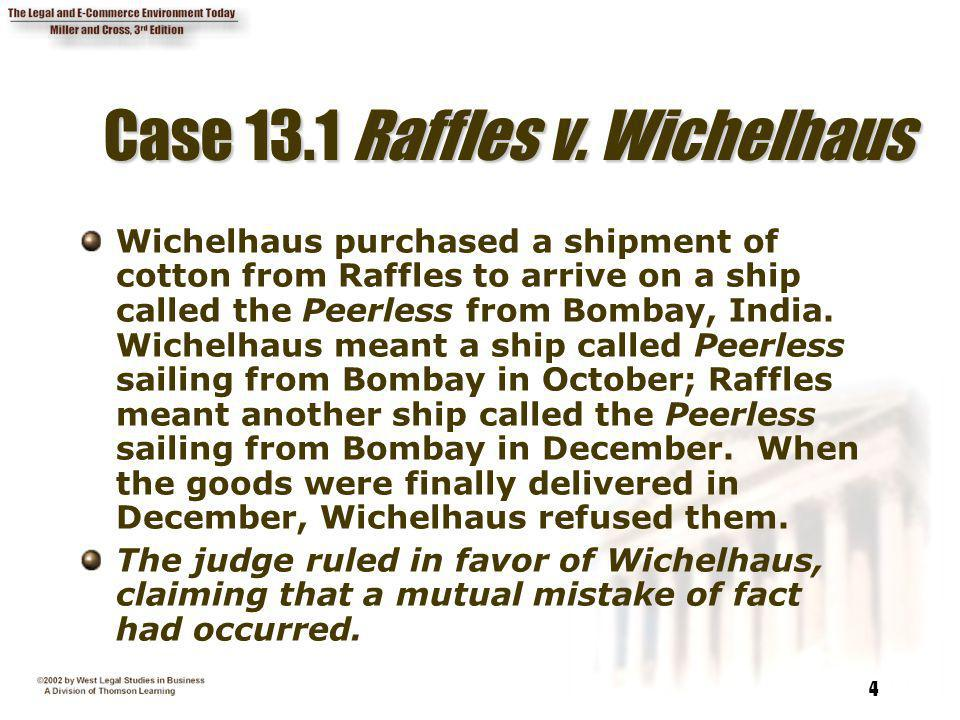 Case 13.1 Raffles v. Wichelhaus