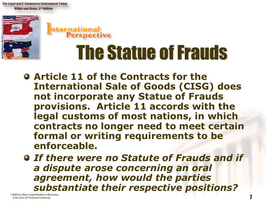 The Statue of Frauds