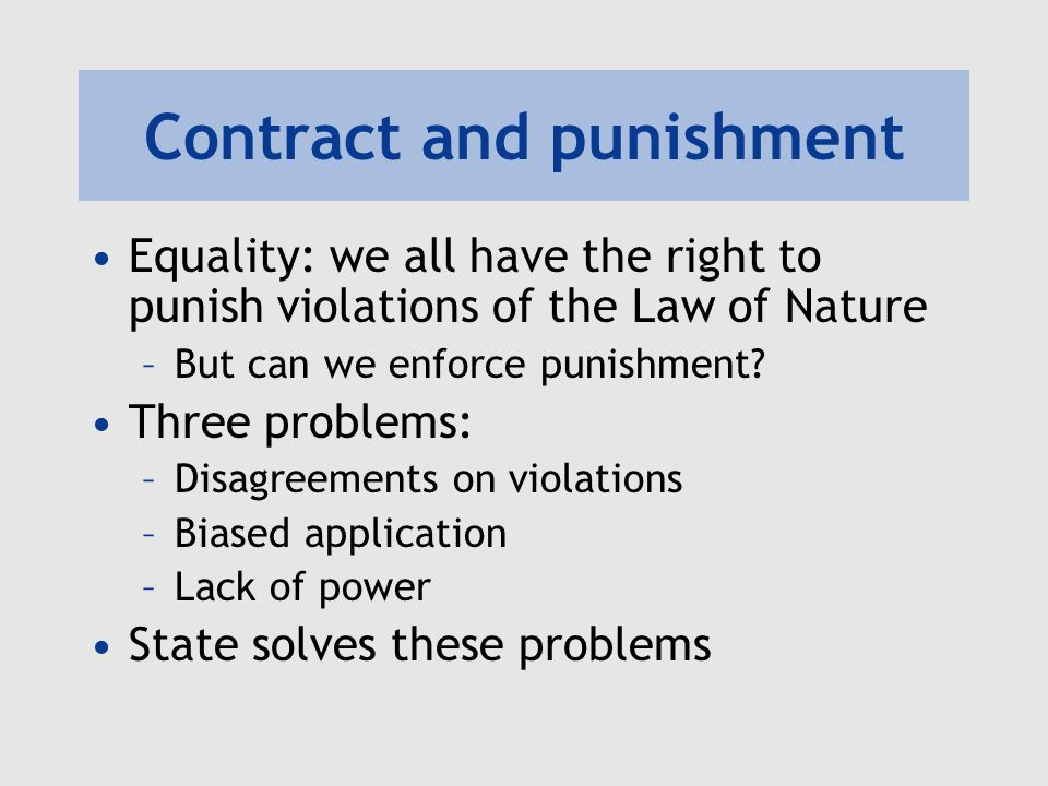 Contract and punishment