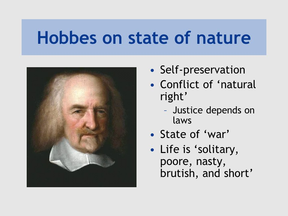 Hobbes on state of nature