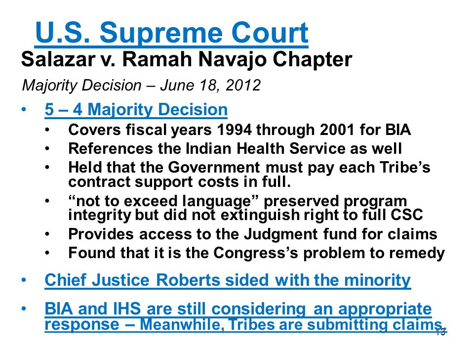 U.S. Supreme Court Salazar v. Ramah Navajo Chapter