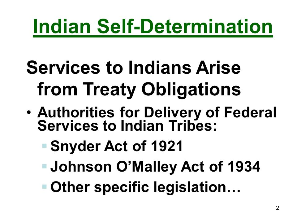Indian Self-Determination