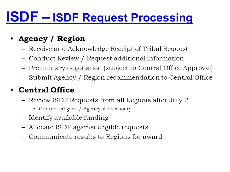 ISDF – ISDF Request Processing