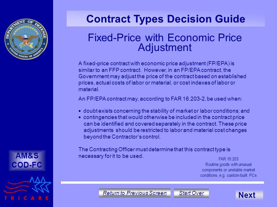 Fixed-Price with Economic Price Adjustment