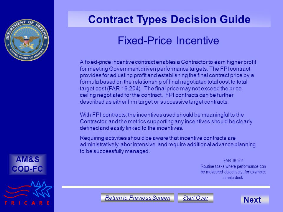 Fixed-Price Incentive