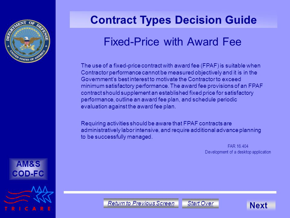 Fixed-Price with Award Fee