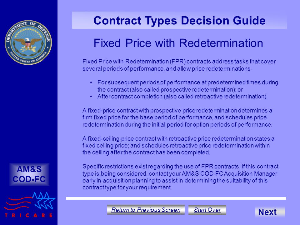 Fixed Price with Redetermination
