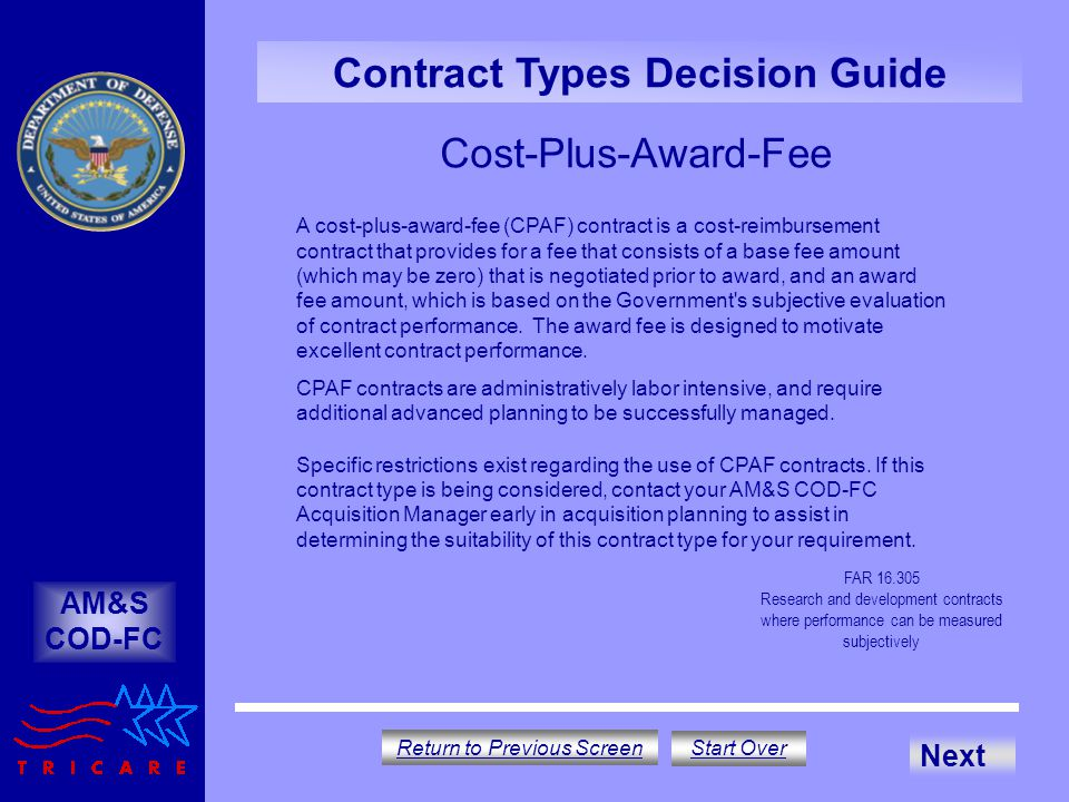 Contract Types Decision Guide