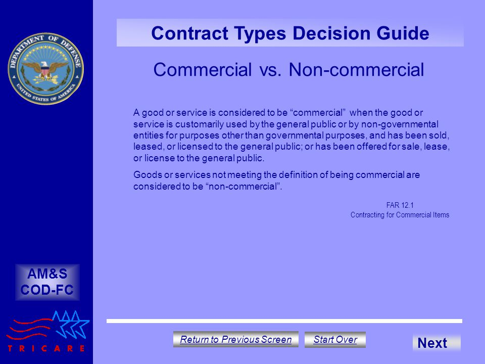 Commercial vs. Non-commercial