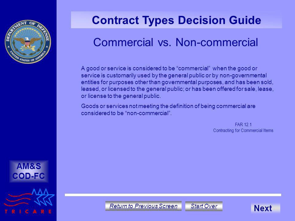 Commercial vs. Non-commercial